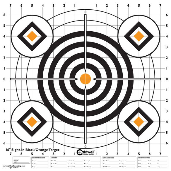 "Sight In Target 16"" Black and Orange 10pk"