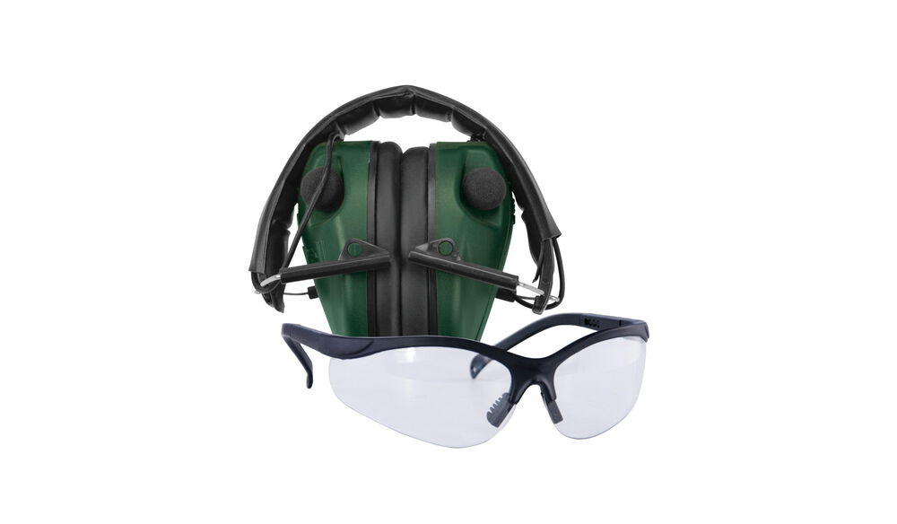 E-Max Low Pro Elec. Muff w/Shooting Glasses