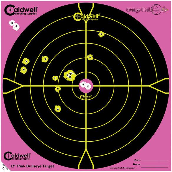 "Orange Peel 12"" Bullseye: 5 sheets, PINK"