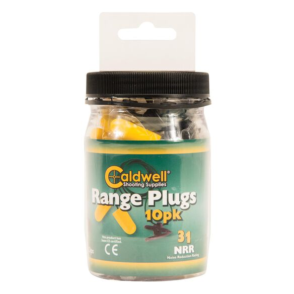 Range Plugs with cord, 31 NRR, 10pk