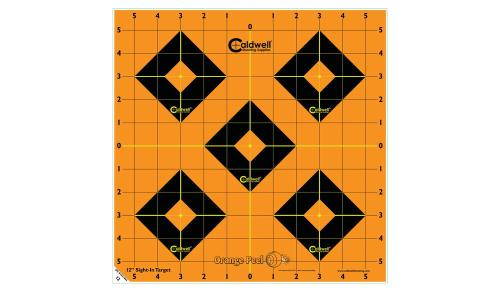 "Orange Peel Sight-In Target: 12"" 5 sheets"