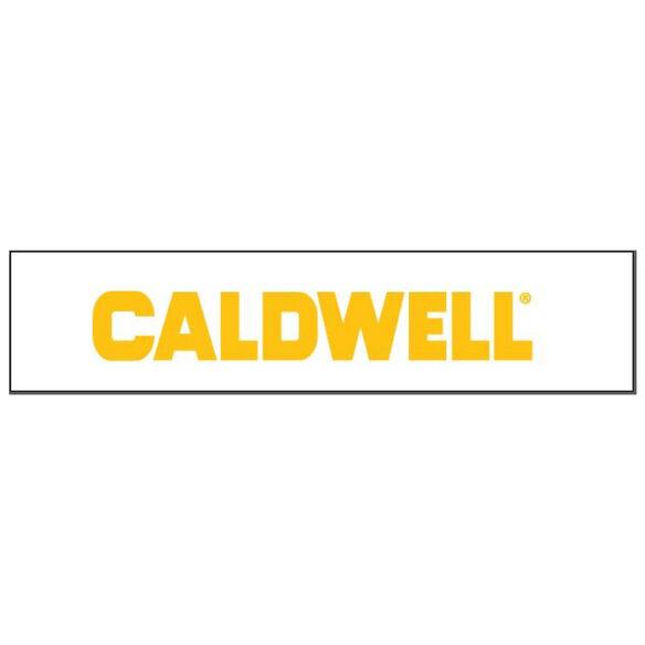 Caldwell Logo Sticker Yellow - Large