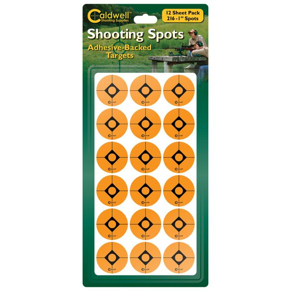 "1"" Orange Shooting Spots, 12 sheets (216 ct)"