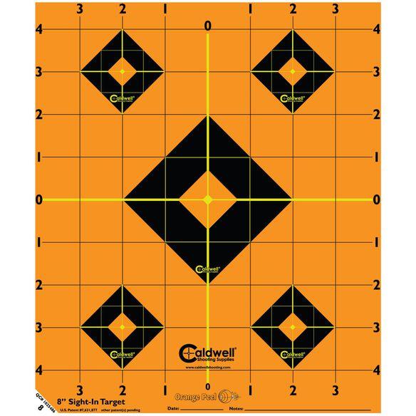 "Orange Peel Sight-In Target: 8"" 5 sheets"