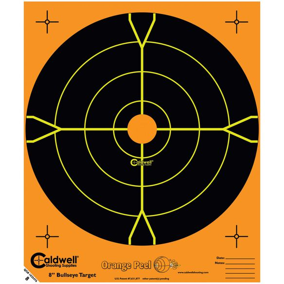 "Orange Peel 5.5"" Bullseye: 10 sheets"