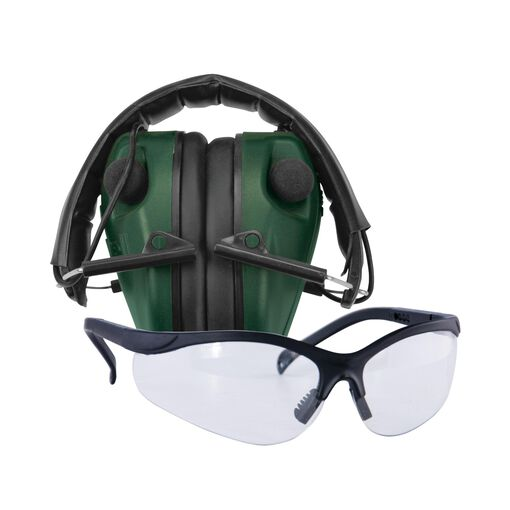 E-Max Lo Pro Elec Muff w/Shooting Glasses