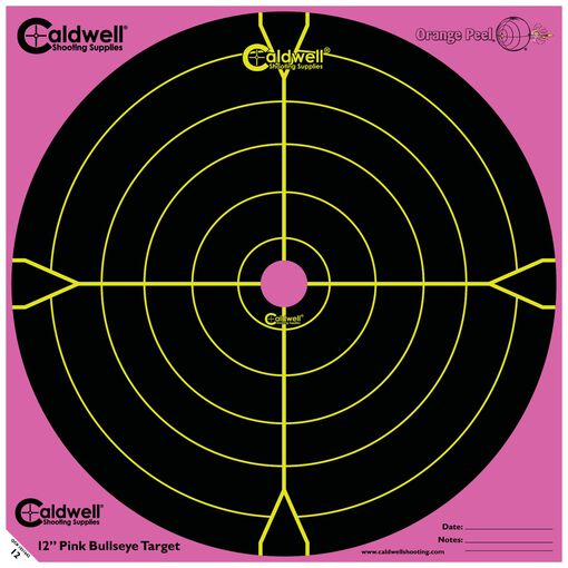 "Orange Peel 12"" Bullseye: 5 sheets, PINK"
