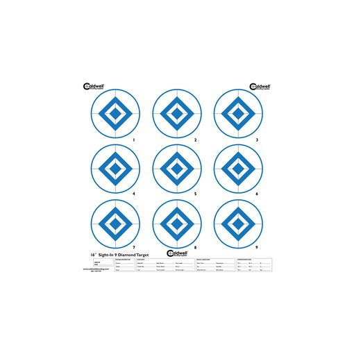 Sight In Target, 9 Diamond, Hi-Contrast Blue, 10pk