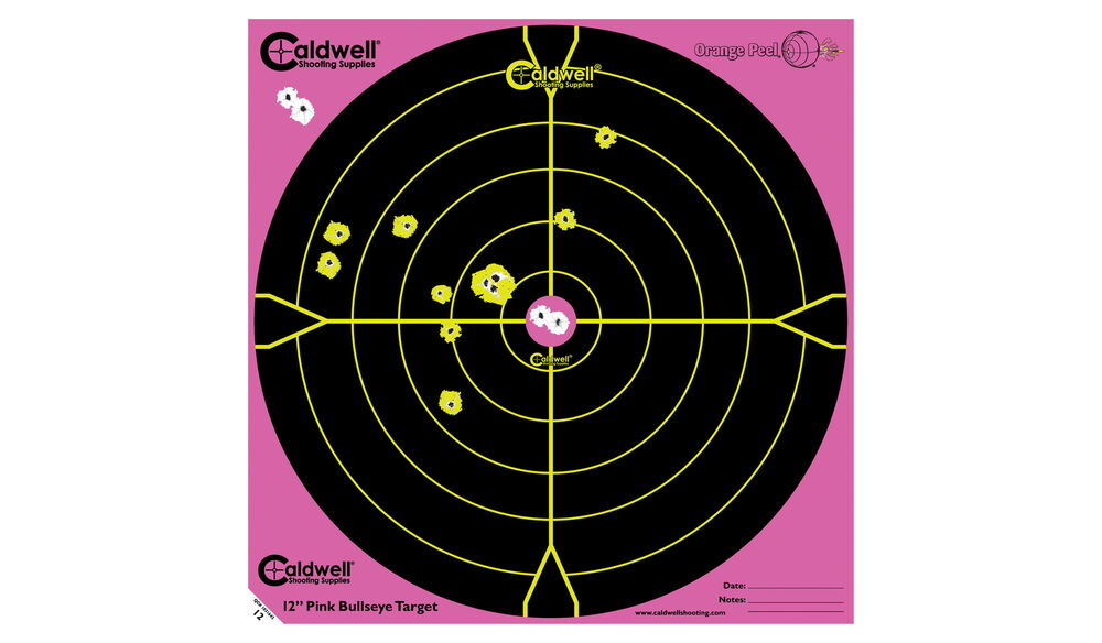 "Pink Peel 12"" Bullseye: 5 sheets"
