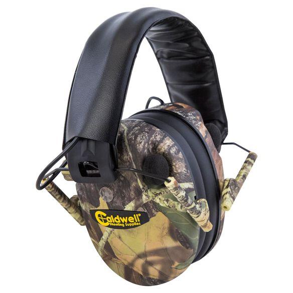 E-Max Low Profile Electronic Hearing Protection - Mossy Oak BU
