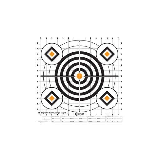 "Sight In Target 16"" Black and Orange 10pk"