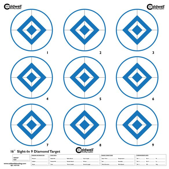 Sight In Target, 9 Diamond, Hi-Contrast Blue, 10pk