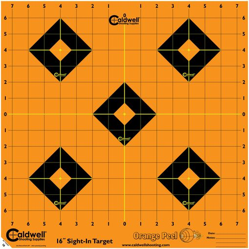 "Orange Peel Sight-In Target: 16"" 12 sheets"