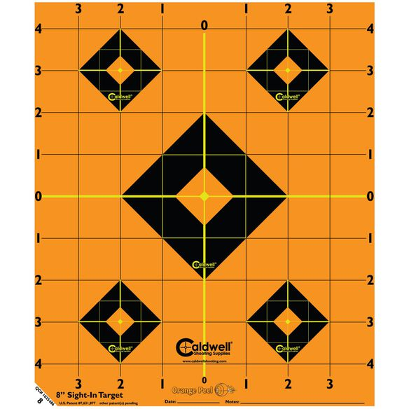 "Orange Peel Sight-In Target: 8"" 5 sheets"