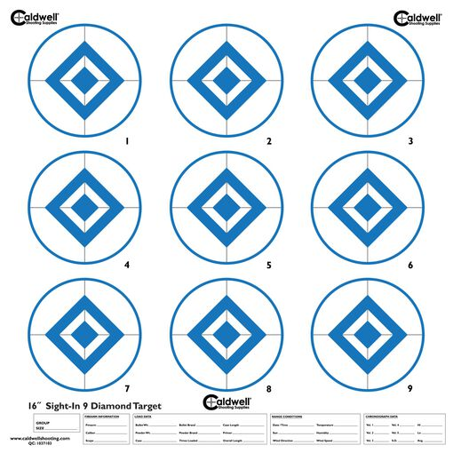 Caldwell® High-Contrast Sight-In Targets