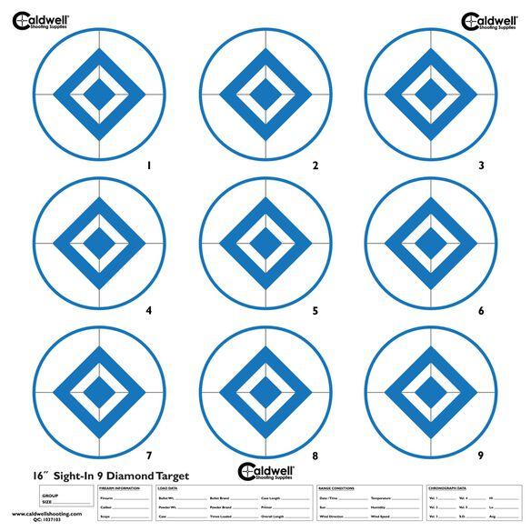 Sight In Target, 9 Diamond, Hi Contast Blue, 10pk